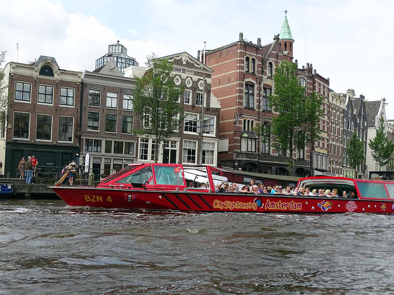 Sightseeing Amsterdam per Boot