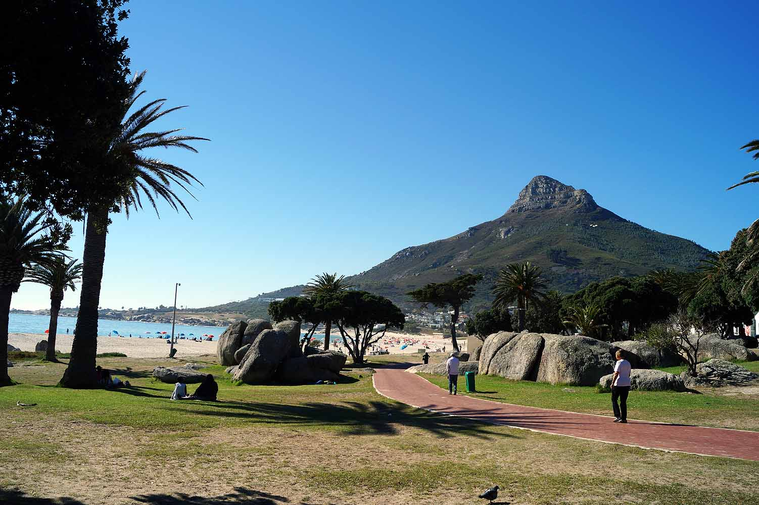 Strand in Camps Bay, Kapstadt