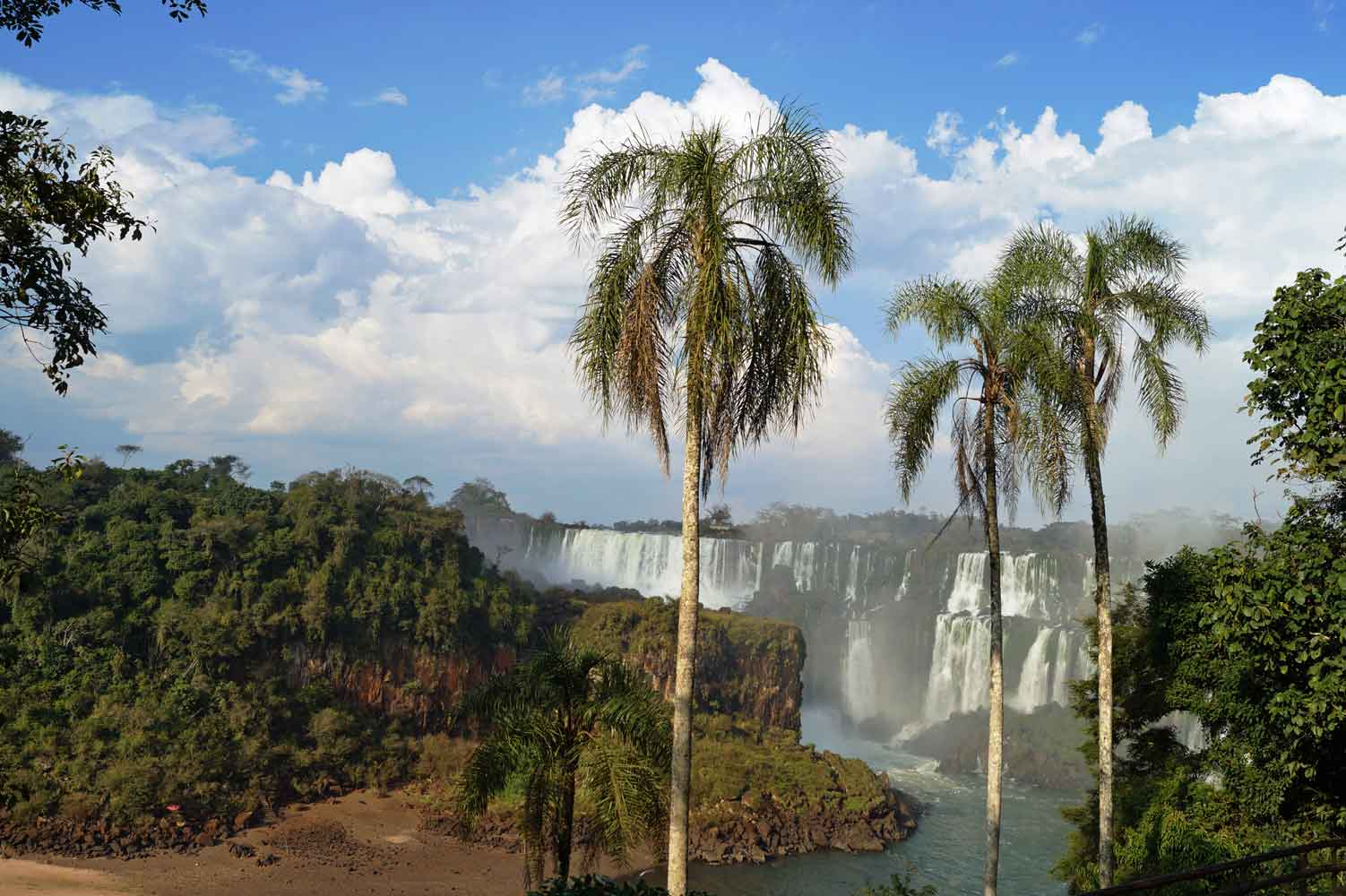 Trail am Iguazu Wasserfall