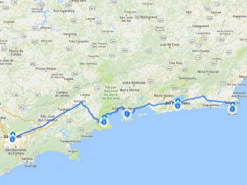 Reiseroute Brasilien für 3,5 Wochen