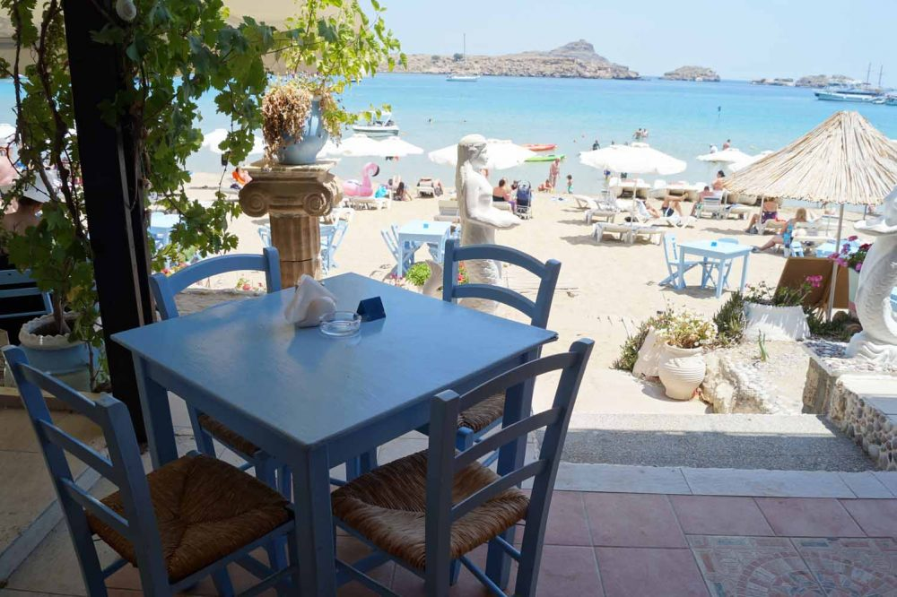 Restaurant am Lindos Beach