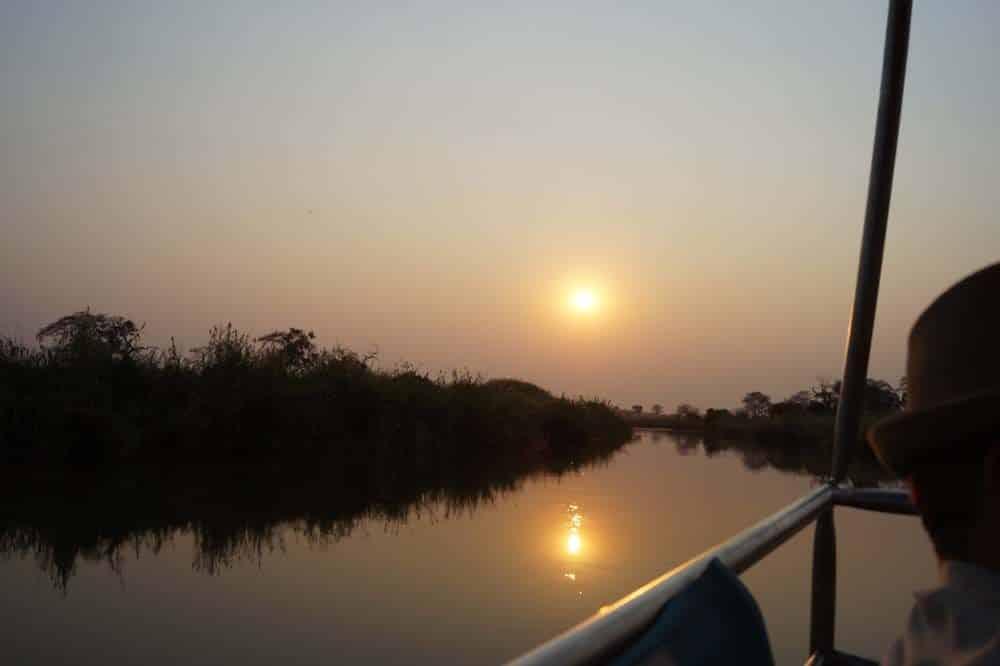 Reiseroute Namibia Botswana: Bootstour